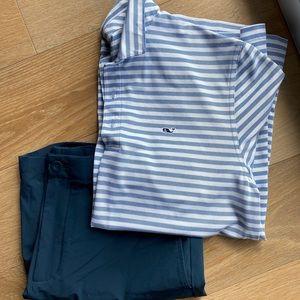2 Vineyard Vines Men's shirts & 2 pair of shorts
